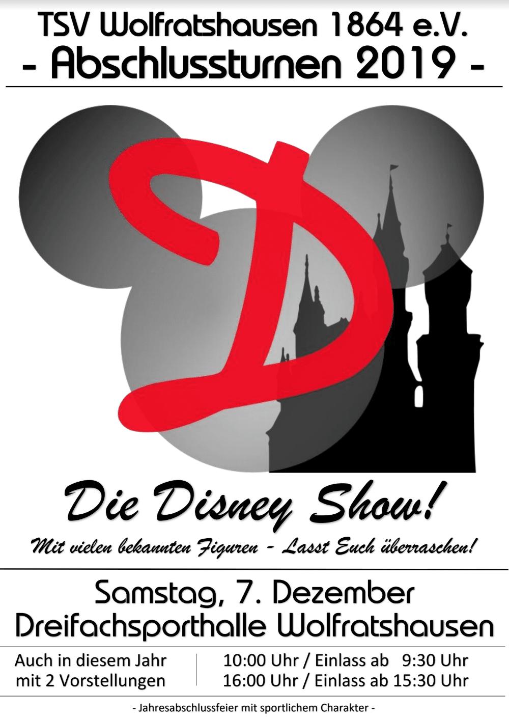 Einladung zur Turnshow der Turnabteilung des TSV Wolfratshausen am 7.12.2019