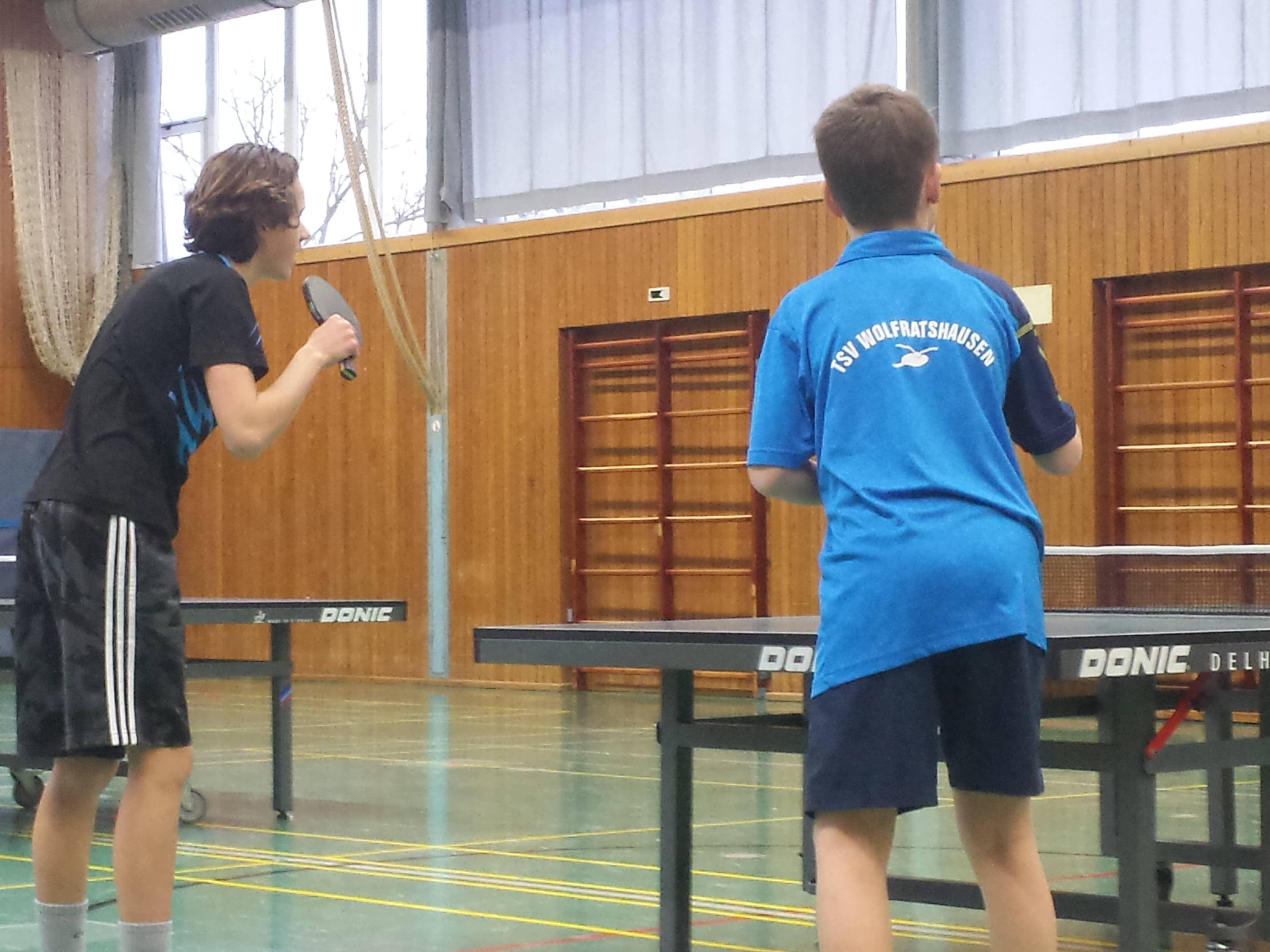 Tischtennis Jugendtraining vorübergehend eingestellt